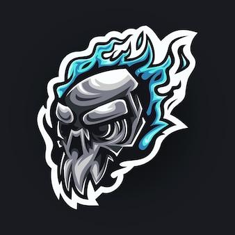 Projektowanie logo maskotki czaszki