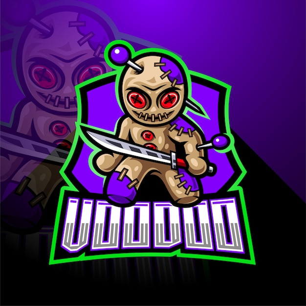 Projektowanie logo maskotki e-sport voodoo