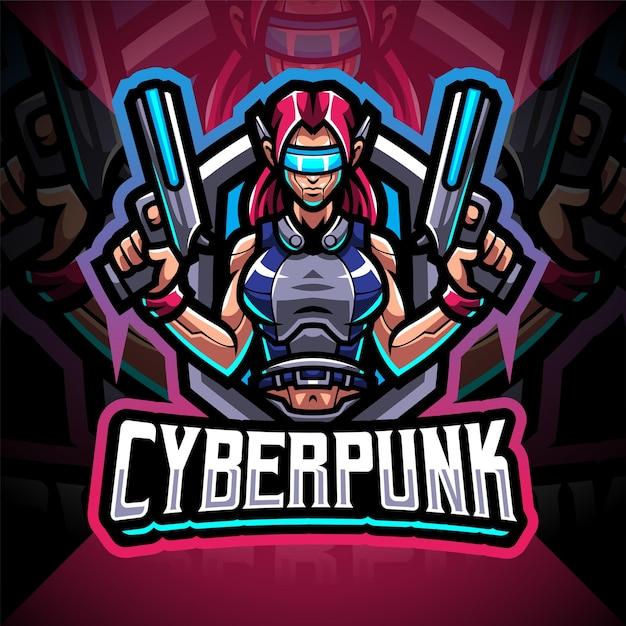Projektowanie logo maskotki e-sportowej cyberpunk