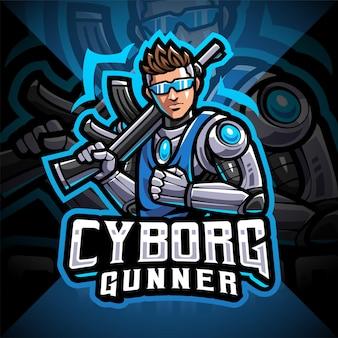 Projektowanie logo maskotki e-sportowej cyborga strzelców