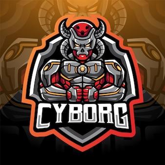 Projektowanie logo maskotki e-sportowej cyborga