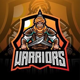 Projektowanie logo maskotki e-sportowej warriors
