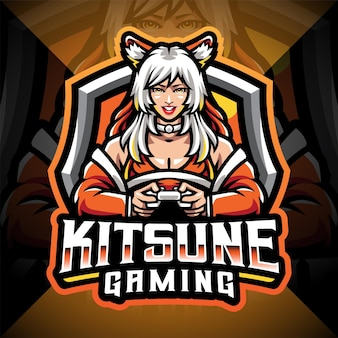 Projektowanie logo maskotki e-sportu kitsune