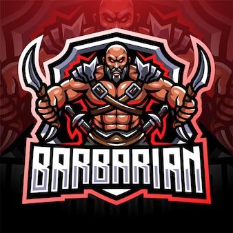 Projektowanie logo maskotki esport barbarzyńcy