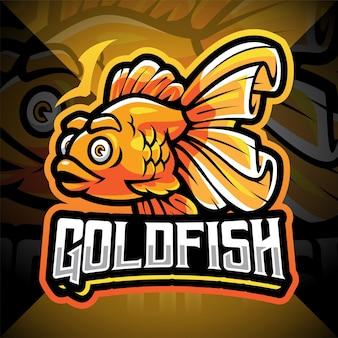 Projektowanie logo maskotki esport goldfish