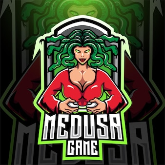Projektowanie logo maskotki esport gry medusa