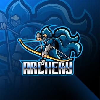 Projektowanie logo maskotki esport łucznictwo