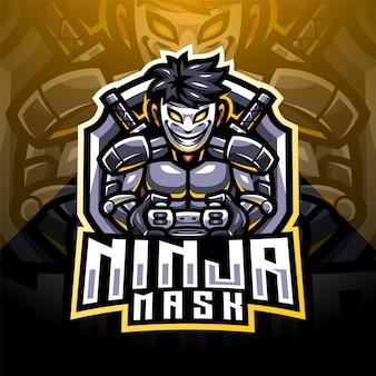 Projektowanie logo maskotki esport maski ninja