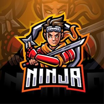 Projektowanie logo maskotki esport ninja