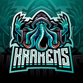 Projektowanie logo maskotki kraken octopus esport