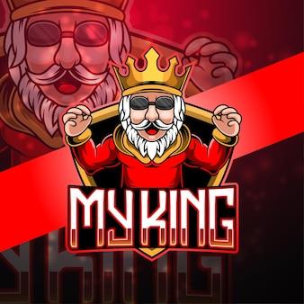 Projektowanie logo maskotki króla esport