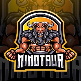 Projektowanie logo maskotki minotaur e-sport
