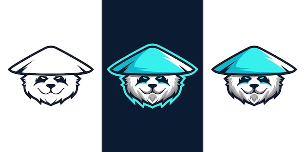 Projektowanie logo maskotki panda e sport
