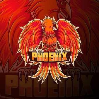 Projektowanie logo maskotki phoenix esport