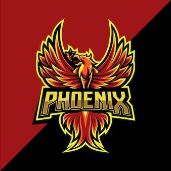 Projektowanie Logo Maskotki Phoenix Esport Premium Wektorów