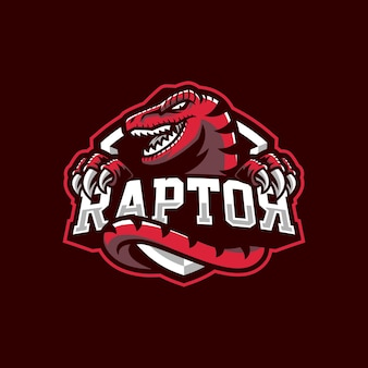 Projektowanie logo maskotki raptor