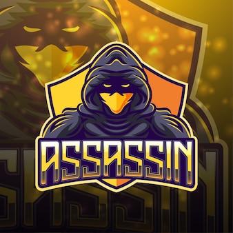 Projektowanie logo maskotki sportowej assassin
