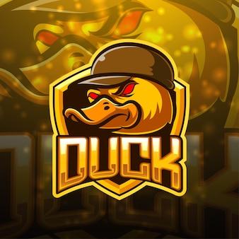 Projektowanie logo maskotki sportowej kaczki
