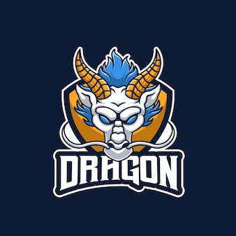 Projektowanie logo maskotki white dragon creative esports