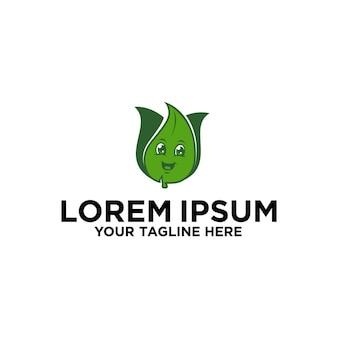 Projektowanie logo maskotki z postacią liścia