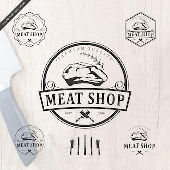 Projektowanie logo meatshop