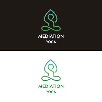 Projektowanie logo medytacji jogi