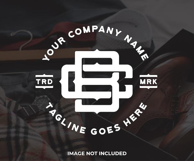 Projektowanie logo monogram bc