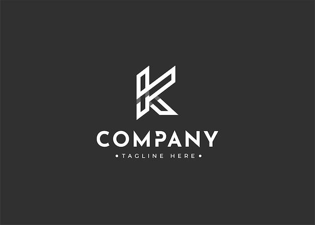 Projektowanie logo monogramu litery k