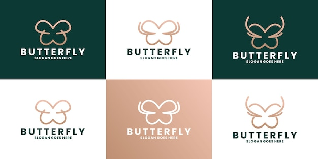 Projektowanie logo motyla marki mody
