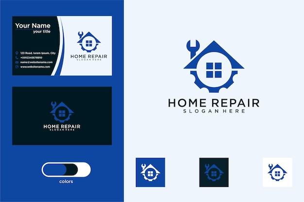 Projektowanie logo naprawy domu i wizytówka