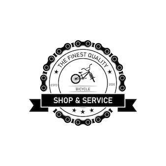 Projektowanie logo naprawy rocznika roweru, pieczęć druku folwarcznego, kreatywny emblemat typografii, wektor