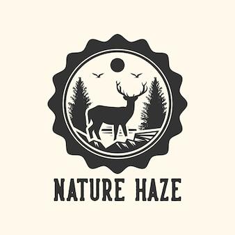 Projektowanie logo natura zamglenie płaskie