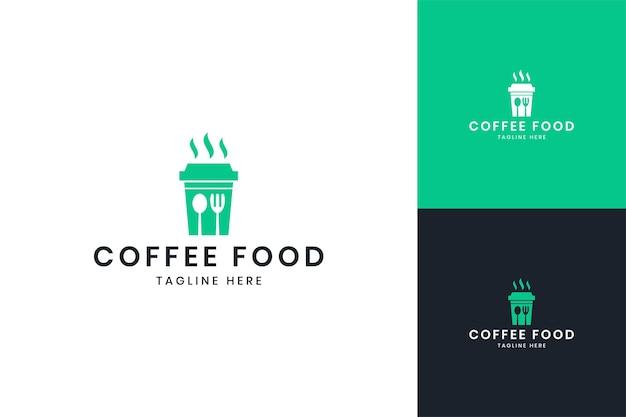 Projektowanie logo negatywnej przestrzeni do kawy spożywczej
