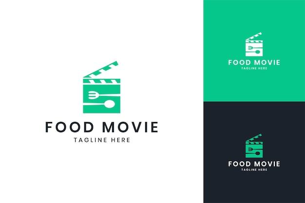 Projektowanie logo negatywnej przestrzeni filmu spożywczego
