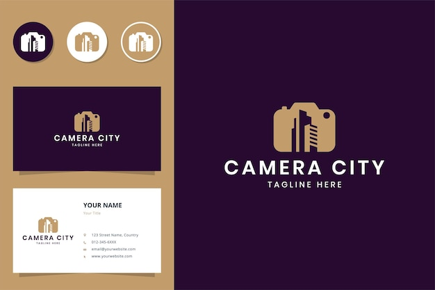 Projektowanie logo negatywnej przestrzeni kamery