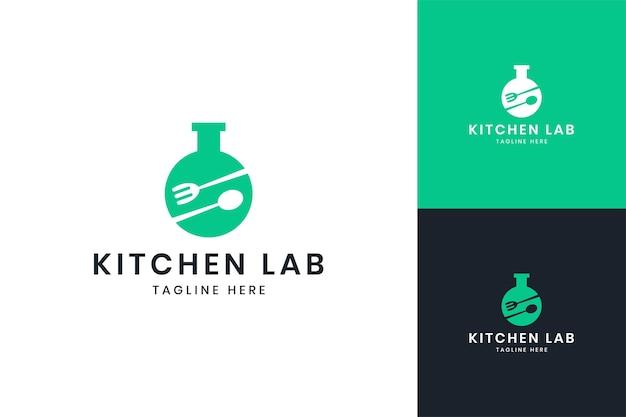 Projektowanie logo negatywnej przestrzeni laboratorium kuchennego