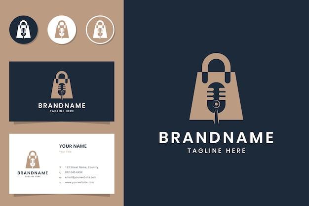Projektowanie logo negatywnej przestrzeni podcastów