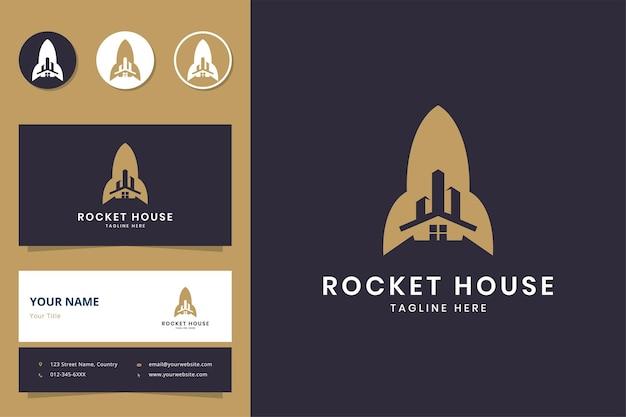Projektowanie logo negatywnej przestrzeni rakietowej