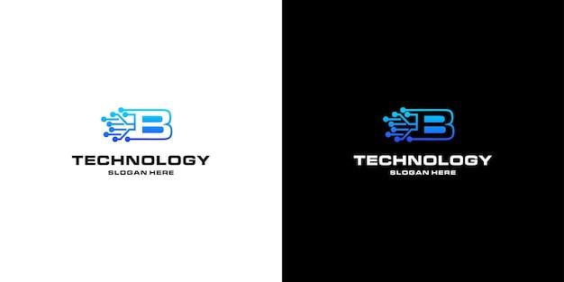 Projektowanie logo nft w technologii litery b