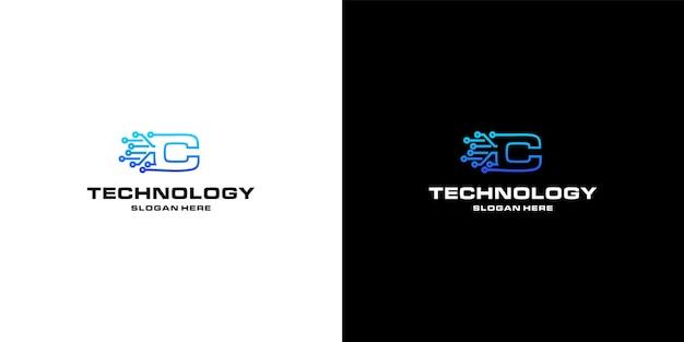 Projektowanie logo nft w technologii litery c