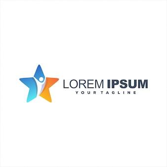 Projektowanie logo niesamowitych gwiazd