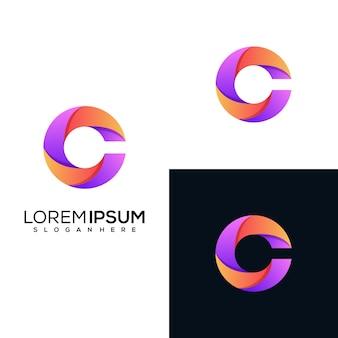 Projektowanie logo nowoczesne litery c.