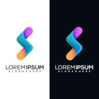 Projektowanie logo nowoczesne litery s.