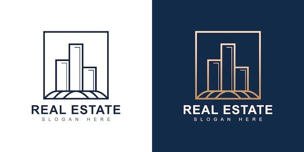 Projektowanie logo nowoczesnych luksusowych nieruchomości