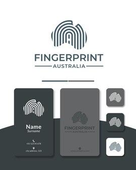 Projektowanie logo odcisków palców w australii dla ochrony bezpieczeństwa
