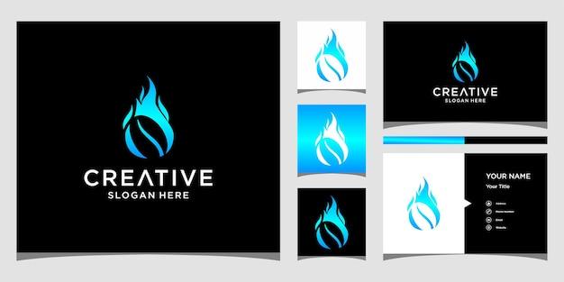 Projektowanie logo ognia kawy