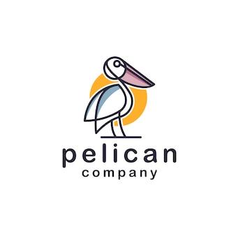 Projektowanie logo pelican mono-line