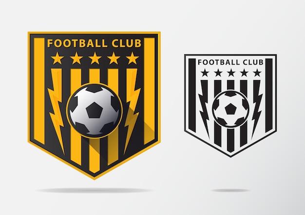 Projektowanie logo piłki nożnej lub piłki nożnej