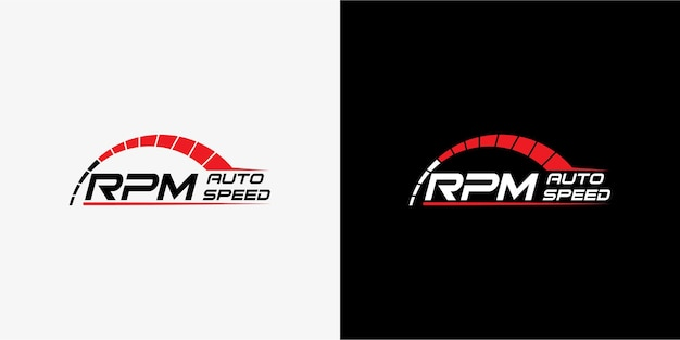 Projektowanie logo prędkości rpm dla motoryzacji