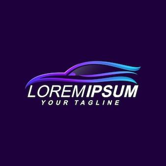 Projektowanie logo premium samochodów samochodowych